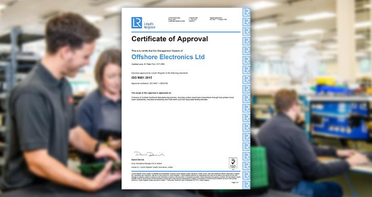 Offshore Electronics passes first remote ISO9001:2015 Recertification Audit with flying colours