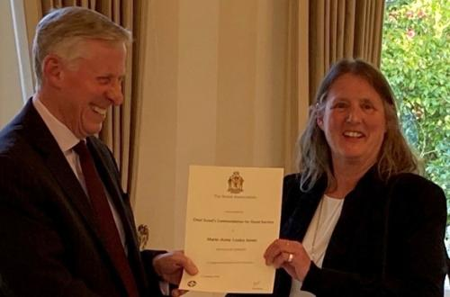 Offshore Electronics' Materials Director awarded the Chief Scout's Commendation for Good Service