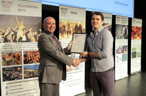 Guernsey based Offshore Electronic's apprentice in the top two winners of Apprentice of the Year